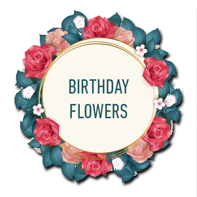 button for birthday flowers