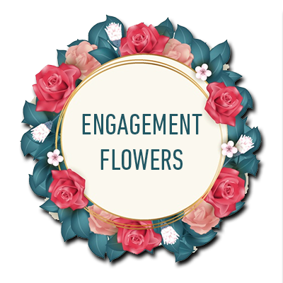 button for engagement flowers